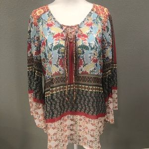 Anthropologie Fig and Flower Beautiful Boho Top Sm